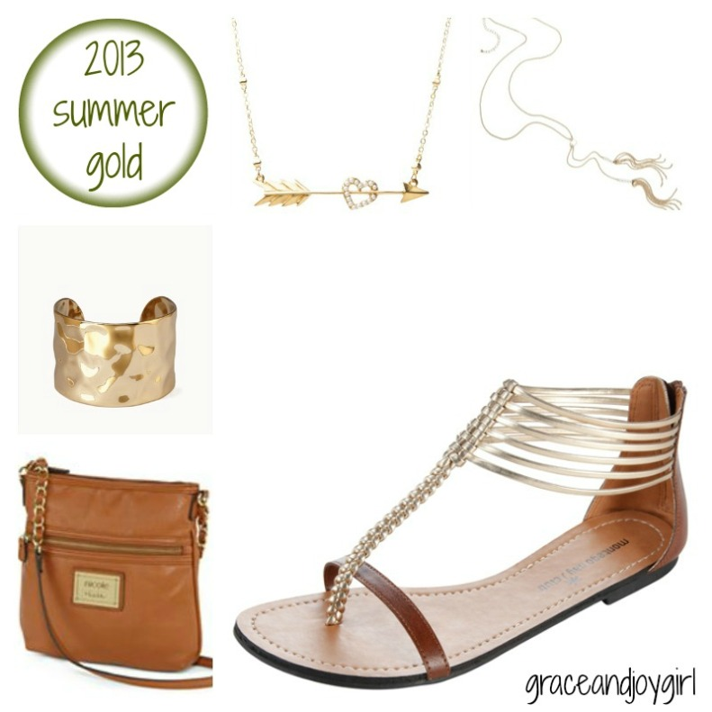 gold summer accessories @ grace and joy girl