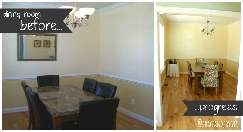 dining room before & progress