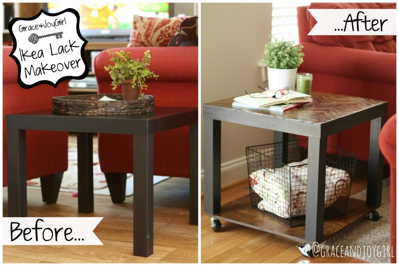 Ikea Lack Before & After @GraceandJoyGirl.com